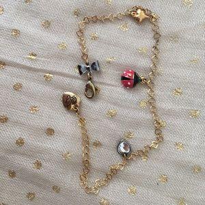 Betsey Johnson Ladybug Ankle Bracelet